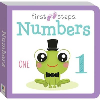 First Steps Large Board Book: Numbers (Book):