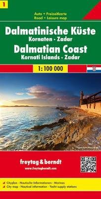 Sheet 1, Dalmatian Coast - Kornati Islands - Zadar Road Map 1:100 000 (Sheet map, folded):