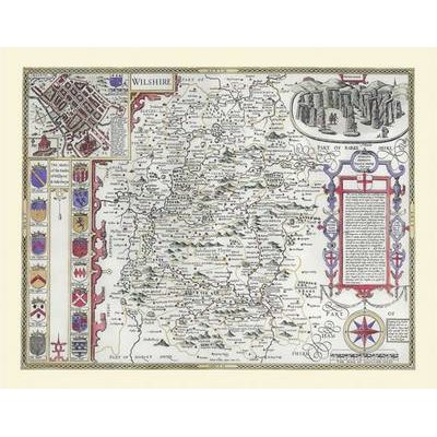 "John Speed Map of Wiltshire 1611 - 20"" x 16"" Photographic Print of the County of Wiltshire - England (Sheet map, flat): John..."