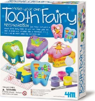 4M Make Your Own Tooth Fairy Keepsake Box Kit: