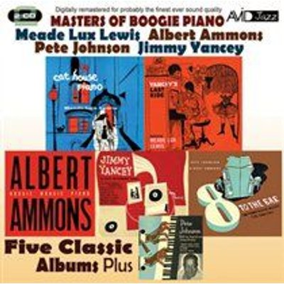 Various Artists - Masters of Boogie Piano (Five Classic Albums Plus) (CD): Meade Lux Lewis, Albert Ammons, Pete Johnson, Jimmy...