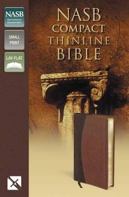 NASB, Thinline Bible, Compact, Imitation Leather, Brown, Red Letter Edition (Leather / fine binding, Red Letter Edition):...