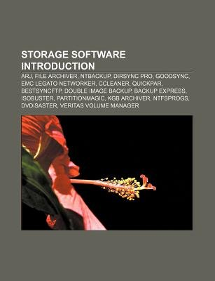 Storage Software Introduction - Arj, File Archiver, Ntbackup