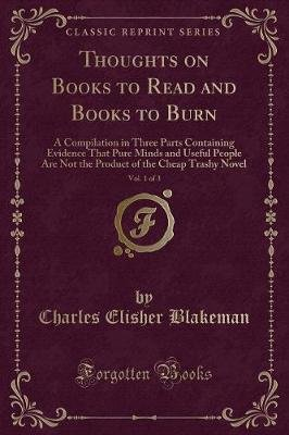 Thoughts on Books to Read and Books to Burn, Vol  1 of 3 - A