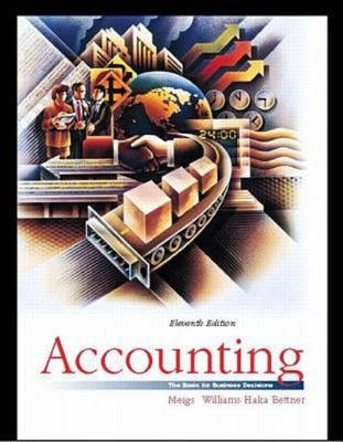 Accounting - The Basis for Business Decisions (Hardcover, 11th Revised edition): Walter B. Meigs