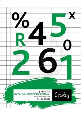 Croxley JD165CR A4 Bookkeeping Practice Book - 8 Cash Column Creditors Journal (72 Pages)(10-Pack):