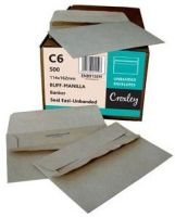 Croxley C6 Brown Easi Seal Envelopes (Box of 500):