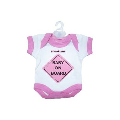 Snookums Baby On Board Babygrow (Pink):