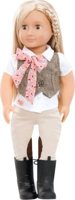Our Generation Riding Doll with Tweed Vest - Leah: