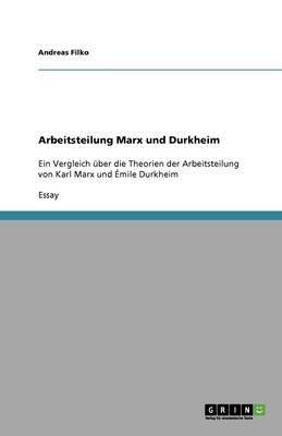 Arbeitsteilung Marx Und Durkheim (German, Paperback): Andreas Filko