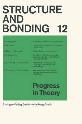 Progress in Theory (Paperback): P. V. Herigonte, D W Smith, U Mayer, V. Gutmann, J C Speakman, S E Harnung, C E Schaffer