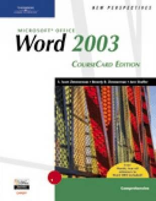 New Perspectives on Microsoft Office Word 2003, Comprehensive (Spiral bound, Course card ed): Ann Shaffer, Beverly Zimmerman,...