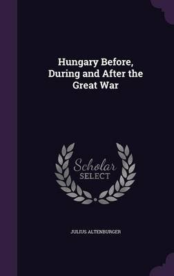 Hungary Before, During and After the Great War (Hardcover): Julius Altenburger
