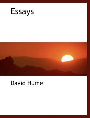 Essays (Hardcover): David Hume