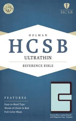 Ultrathin Reference Bible-HCSB-Magnetic Flap (Hardcover): Holman Bible Staff