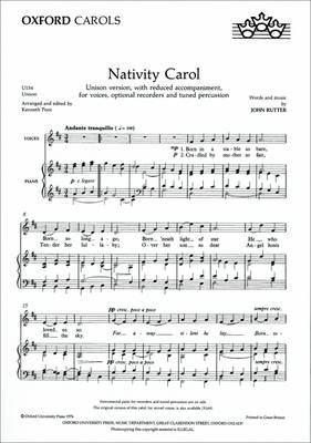 Nativity Carol (Sheet music, Unison vocal score): John Rutter