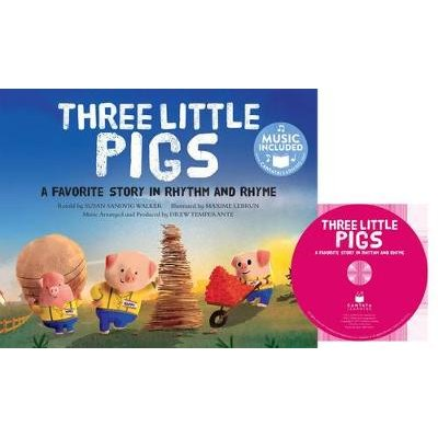 Three Little Pigs - A Favorite Story in Rhythm and Rhyme (Book): Susan Sandvig Walker