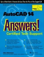 AutoCAD 14 Answers! - Certified Tech Support (Paperback): Ellen Finkelstein