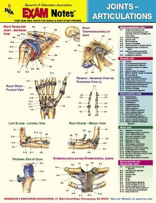 Exam Notes Joints-Articulations St (Wallchart): Staff Of Rea