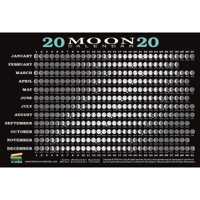 2020 Moon Calendar Card (5 pack) - Lunar Phases, Eclipses, and More! (Cards): Kim Long