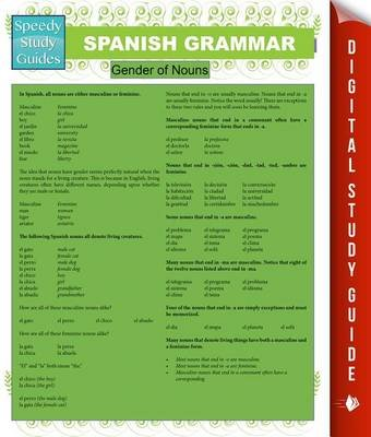 Spanish Grammar (Speedy Study Guides) (Electronic book text): Speedy Publishing LLC
