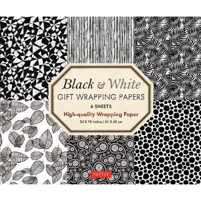 Black and White Gift Wrapping Papers - 6 sheets - 6 Sheets of High-Quality 18 x 24 inch Wrapping Paper (Paperback): Tuttle...