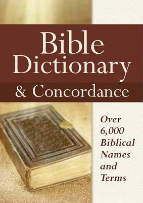 Bible Dictionary & Concordance (Hardcover): Castle Books