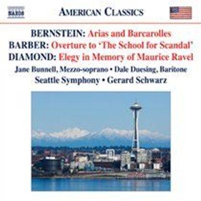 Various Artists - Bernstein: Arias and Barcarolles/... (CD): Leonard Bernstein, Samuel Barber, David Diamond, Gerard Schwarz,...