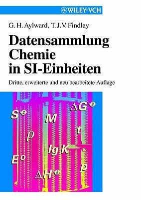 Datensammlungchemie in SI-Einheiten (Paper Only) (German, Hardcover): Gordon H. Aylward