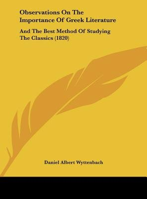 importance of greek literature