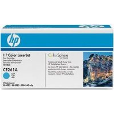 HP No 648A Cyan LaserJet Toner Cartridge (CE261A):