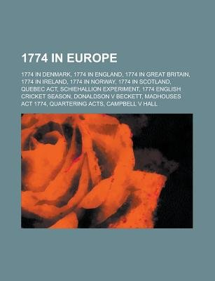 1774 in Europe - 1774 in Norway, (Paperback): Books Llc