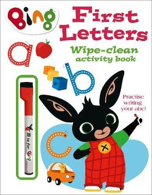 Bing: First Letters Wipe-Clean Activity Book (Paperback):