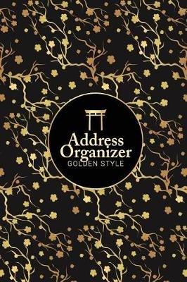 address organizer golden tiny flower design the best solution