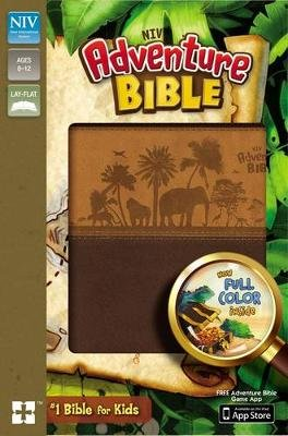 NIV, Adventure Bible, Imitation Leather, Brown, Full Color (Leather / fine binding, Revised edition): Lawrence O. Richards