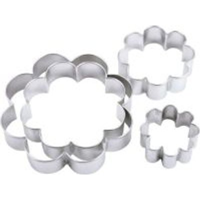 Wilton Blossom Cookie Cutter Set (4 Piece) (Silver):