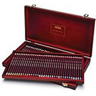 Derwent Coloursoft Pencils Set Of 72 In A Wooden Box Arts
