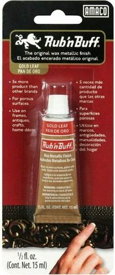 Lion Rub N Buff Wax Metalic Finish 15ml Tube Gold Leaf: