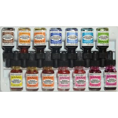 Dr. Ph. Martin's Radiant Watercolour Dye - Set D (43 To 56)(15ml):