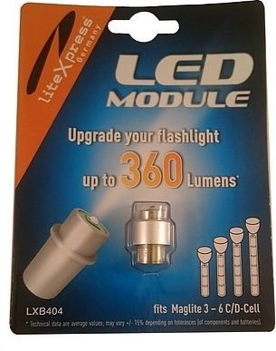 Maglite Led Upgrade Module 3 To 6 Cell Dc Flights Cree 360 Lumen: