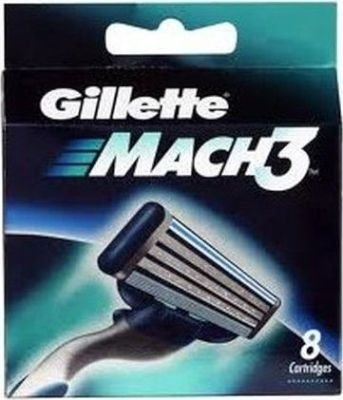 Gillette Mach 3 Cartridge (Pack of 8):