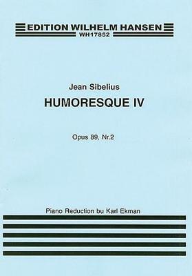 Jean Sibelius: Humoresque IV Op.89 No.2 (Violin/Piano) (Paperback):