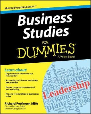 Business Studies for Dummies (Paperback, New): Richard Pettinger