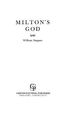 Milton's God (Hardcover): William Empson