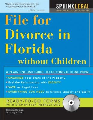 File for Divorce in Florida Without Children (Paperback): Edward A Haman