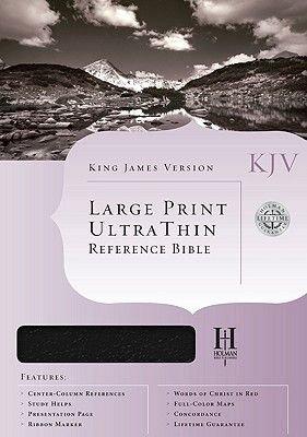 KJV Ultrathin Reference Bible (Large print, Leather / fine binding, Large type edition): Broadman & Holman Publishers