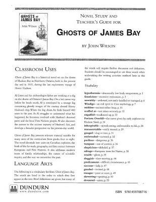 Ghosts of James Bay Teachers' Guide - Dundurn Teachers' Guide (Online resource): John Wilson