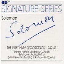 Various Artists - Solomon (CD): Solomon Cutner, Fryderyk Chopin, Johannes Brahms, Ludwig Van Beethoven, Anthony Pini, Henry...
