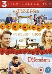 The Best Exotic Marigold Hotel/We Bought a Zoo/The Descendants (DVD): Bill Nighy, Maggie Smith, Tom Wilkinson, Judi Dench, Dev...