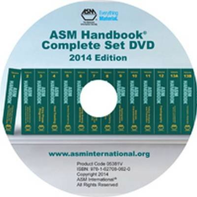 ASM Handbook Complete Set DVD 2014 Edition (DVD-ROM): Asm International